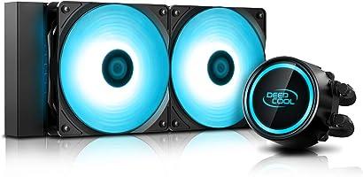 DEEP COOL GAMMAXX L240 V2,AIO Refrigeración Líquida de CPU, 2 * 120mm RGB PWM Ventiladores Silenciosos, Controlado RGB...