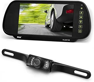 Pyle Backup Car Camera & Rear View Mirror Monitor Screen System-Parking & Reverse Safety Distance Scale Lines, Waterproof ...