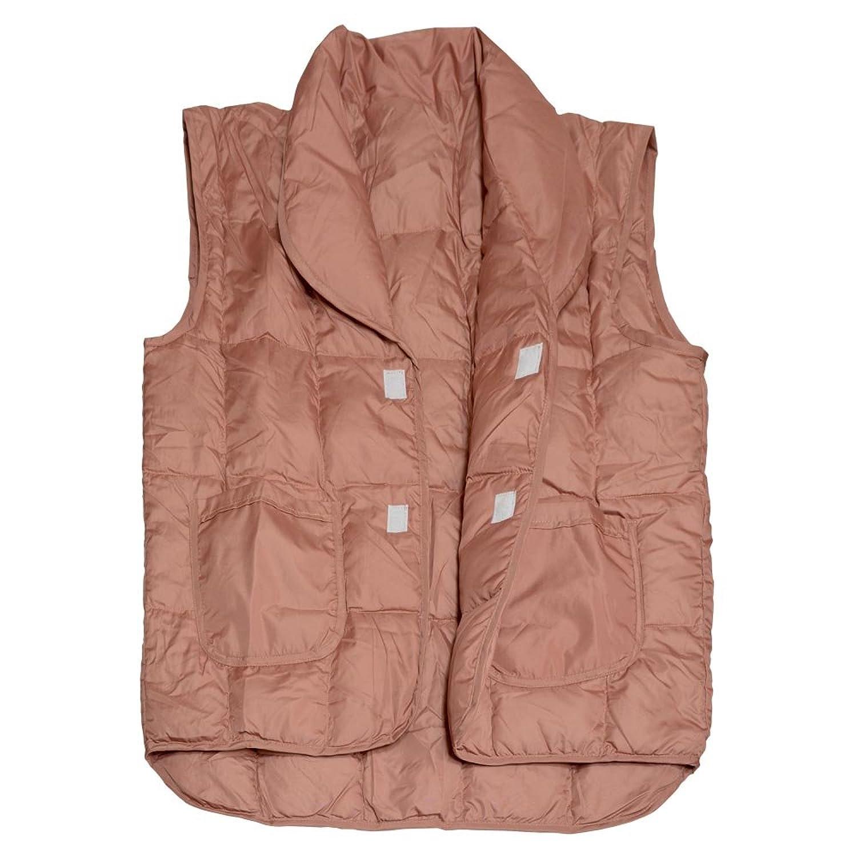 守谷織物(MORIYA) あったか ダウン ポンチョ レディッシュ ブラウン 男女兼用 フリーサイズ 216-80