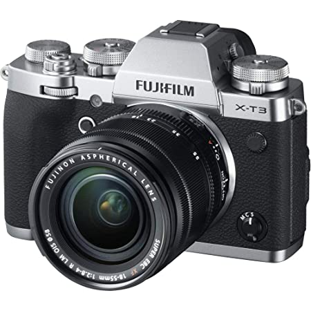 """Fujifilm X-T3 26.1 MP Mirrorless Camera with XF 18-55 mm Lens (APS-C X-Trans CMOS 4 Sensor, X-Processor 4, EVF, 3"""" Tilt Touchscreen, Fast & Accurate AF, Face/Eye AF, 4K/60P Video) - Silver"""