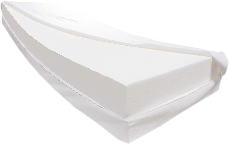 Dibapur Vulcano: colchón de espuma fría ortopédico H3 con funda de aloe vera aprox. 25,4 cm Ideal para camas con somier – Fabricado en Alemania (175 x ...