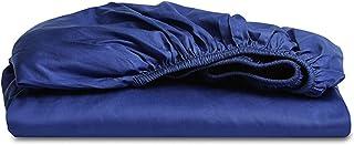 Premium Quality Plain Fitted Sheet, Soft & Cosy Fleece Bed Linen, Bedding, Kingsize Bedsheet,150x200x30cm