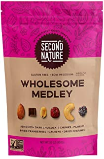 Second Nature Wholesome Medley Trail Mix - Healthy Snack Blend - Gluten Free, 30 oz Resealable Pouch