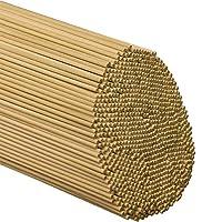 Woodpeckers ダボロッド 木製棒 – 1/8 x 12インチ 未仕上げ硬材スティック – クラフトやDIYに – 2500ピース