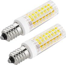 E14 LED Bulbs 6W, 88 LED Chipsets 850LM, Warm White 2800-3200K, AC 120V (Pack of 2)