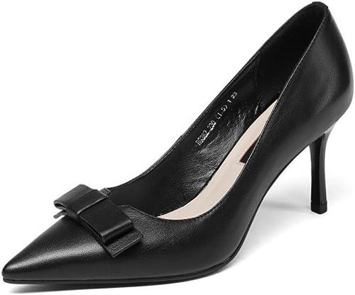 Chaussures En Cuir Bout Pointu à Talons Hauts Glissent Sur La Robe De Soirée Partie Chaussures De Mariage Pompes à Talons Hauts
