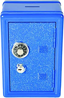 Kicko Glitter Locker Safe Bank - Colors Vary - 7 Inch Colored, Sparkly, Elegant Coin Bank with Keys - Perfect Party Favor ...