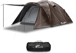 FIELDOOR フライシート付キャンプテント フィールドキャンプドーム ペグ+ロープ+キャリーバッグ付 UVカット 耐水 シルバーコーティング キャノピー 簡単