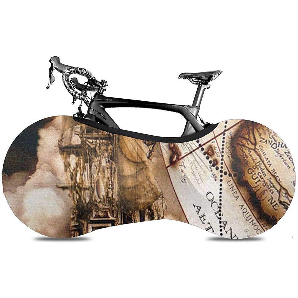 Cubierta De Bicicleta,Vintage Pirate Ship Map Murals Impresión Colorida Cubiertas De Bicicleta para Bicicleta Bicicleta Bicicleta De Carretera: Amazon.es: Deportes y aire libre