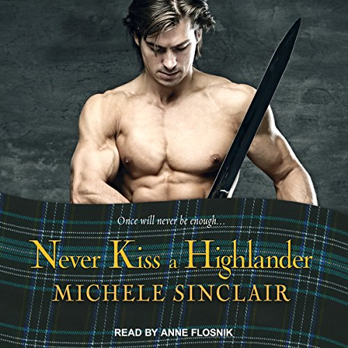 Never Kiss a Highlander audiobook cover art