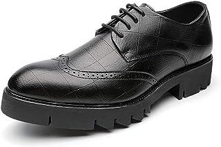 [Shuo lan JP] 靴 男性 ビジネス オックスフォード カジュアル クラシック アウトソール ブローグシューズ 通気