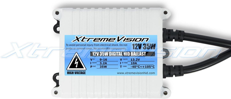 XtremeVision 55W AC Xenon HID Lights with Premium Slim AC Ballast 2 Year Warranty 5K Bright White H4 // 9003 5000K