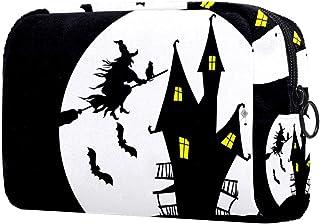 Halloween Witch Makeup Bag Toiletry Bag for Women Skincare Cosmetic Handy Pouch Zipper Handbag
