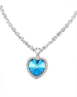 Swarovski Elements 18K White Gold Plated Necklace For Women SWR-224