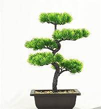 JIAN 40 cm 5 vork grote kunstmatige pijnboom bonsai plastic boom ingemaakte echte touch planten met een pot fit voor thuis...
