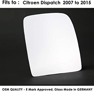 RHS Wing Mirror Glass Convex CITROEN Dispatch 2016-/>2020