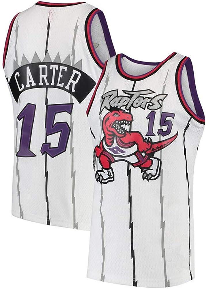 S-XXL Herren Trikot Toronto Raptors 15# Vince Carter Retro Basketball Shirt Sommer Basketball Uniform Stickerei Jersey Fan Sweatshirt Kinder//Erwachsene oder EIN Geburtstagsgeschenk