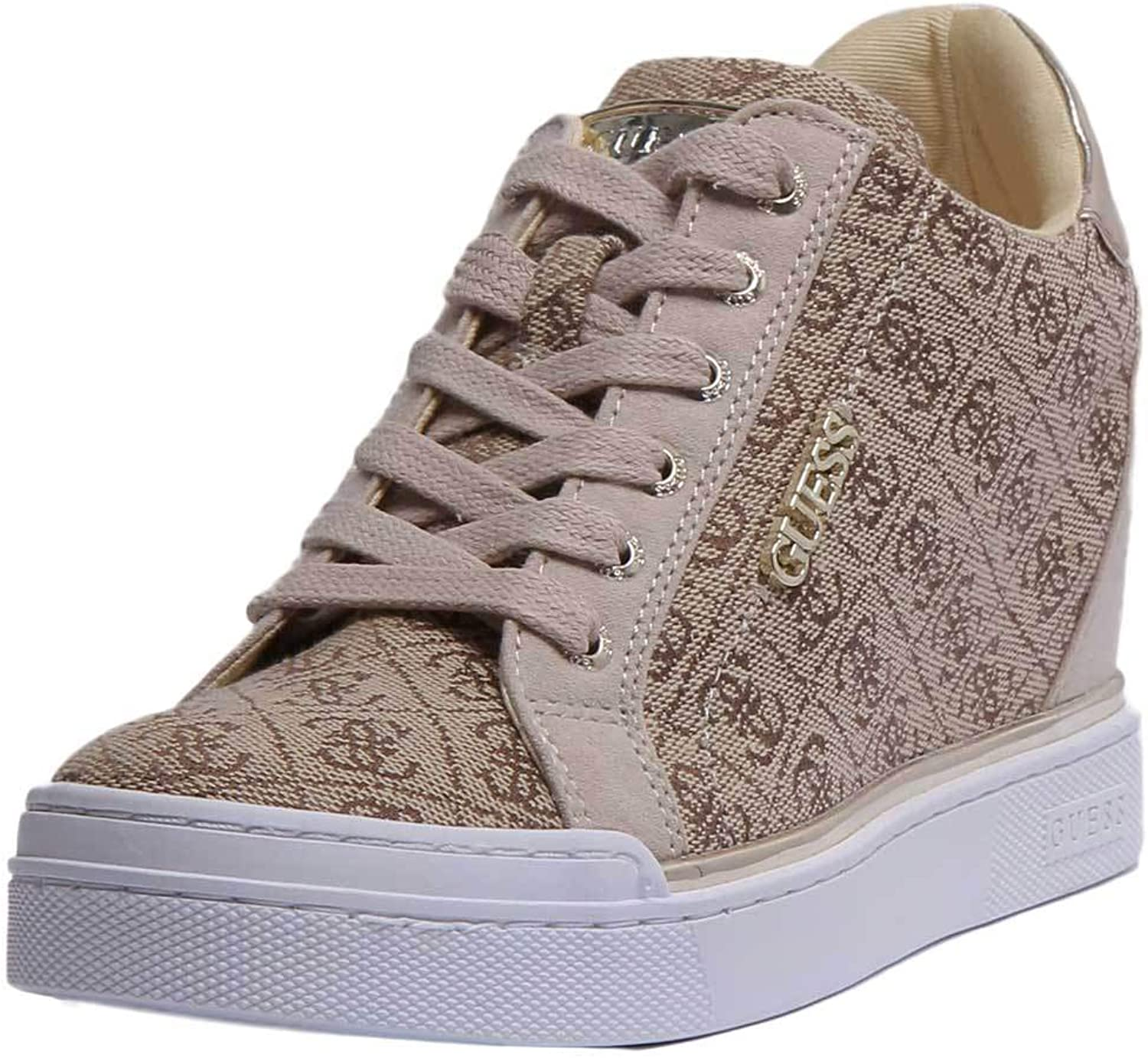GUESS Fl5Fw2Fal12 Womens Synthetic Trainer in Beige