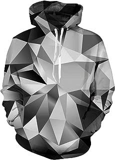 Unisex 3D Realistic Digital Print Pullover Hoodie Hooded Sweatshirt S-XL