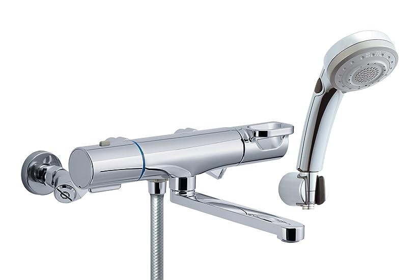 魔女コールド獣LIXIL(リクシル) INAX 浴室用 サーモスタット付シャワーバス水栓 エコフル多機能シャワー スイッチ機能付 簡単取付脚タイプ RBF-817ZW