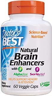 Doctor's Best Natural Brain Enhancers, Non-GMO, Vegan, Gluten Free, 60 Veggie Caps (DRB-00214)