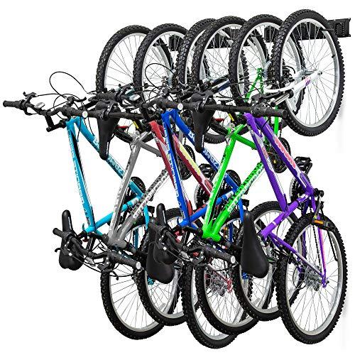 RaxGo Garage Bike Rack, Wall mounted Bicycle Storage Hanger, 6...