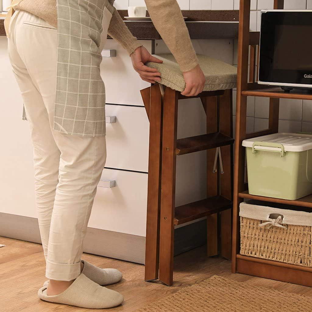 Tabouret Pliant Simple Tabouret 3 étapes chaises Mobiles Portables Tabouret Haut de Cuisine Polyvalent et étapes de Banc pour Cuisine extérieure Green
