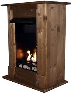 Chimenea de bioetanol y modelo gel Venecia Premium elección de 9 colores () madera de roble