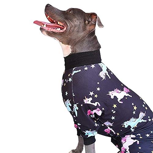 664f75559250 Tooth and Honey Pit Bull Pajamas/Unicorn Dog Pajamas/Lightweight Pullover  Pajamas/Full