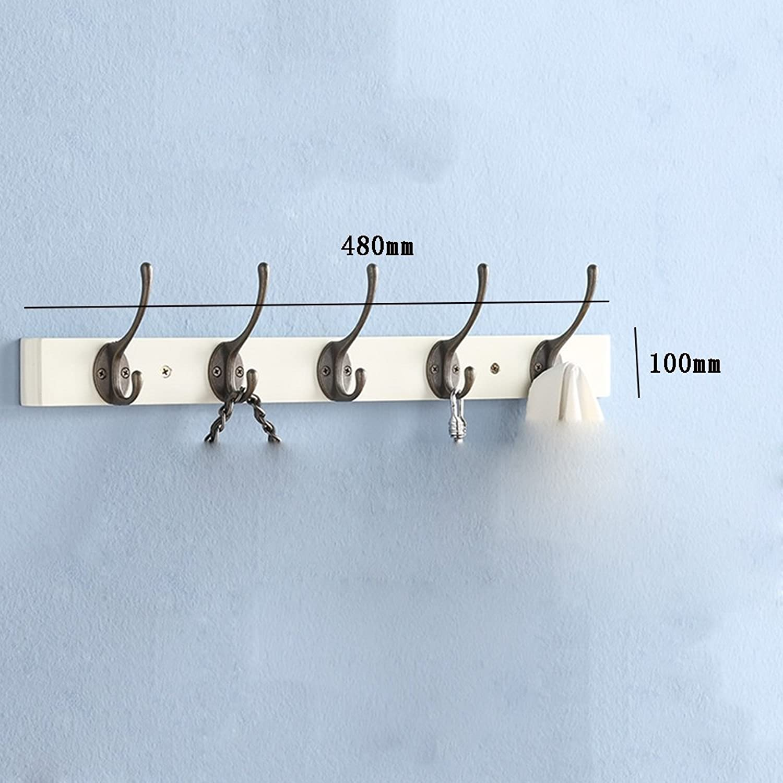 XIA Coat Racks Solid Wood Zinc Alloy White Style Optional Hook Up Two-Way Double Layer Bedroom (Size   5 Hooks, Style   B)