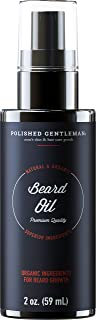 Organic Beard Growth Oil for Men - with Cedarwood & Tea Tree Oil - Easy Beard Dispenser and Pump - Natural Conditioner and Softener - Beard Thickening Spray (2 fl. oz) - Made in USA