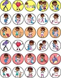 30 x Edible Cupcake Toppers Themed of Doc Mcstuffins Collection of Edible Cake Decorations | Uncut Edible on Wafer Sheet