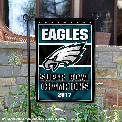 WinCraft Philadelphia Eagles 2017 Football Champions Double Sided Garden Flag