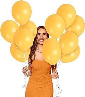 Matte Peach Apricot Light Orange Balloons 12 Inch 100 Pack Premium Latex for Halloween Space Tropical Dinosaur Beach Jungl...