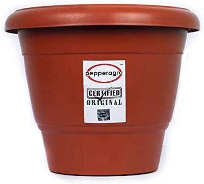 Pepper Agro Round Planter 12 Inch Terracotta (Set of 3)