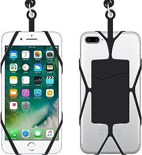 IHUIXINHE Teléfono Acollador Universal Silicona Caso con Cuello Correa, Correa Cuerda de Silicona con Ranura de Tarjeta para iPhone X 8 7 Plus 6 6S Samsung Galaxy S8 S7 Edge Note 4 5 Huawei