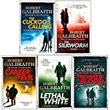 Cormoran Strike Series Robert Galbraith 5 Books Collection Set (The Cuckoo's Calling, The Silkworm, Career of Evil, Lethal White, Troubled Blood)