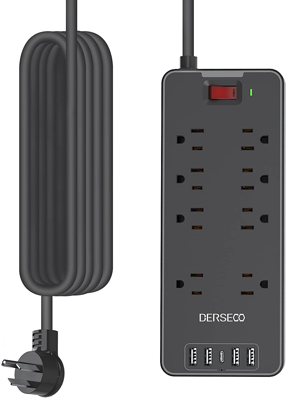 Power Alternative dealer Strip Surge Protector DERSECO 1875W USB Nippon regular agency with