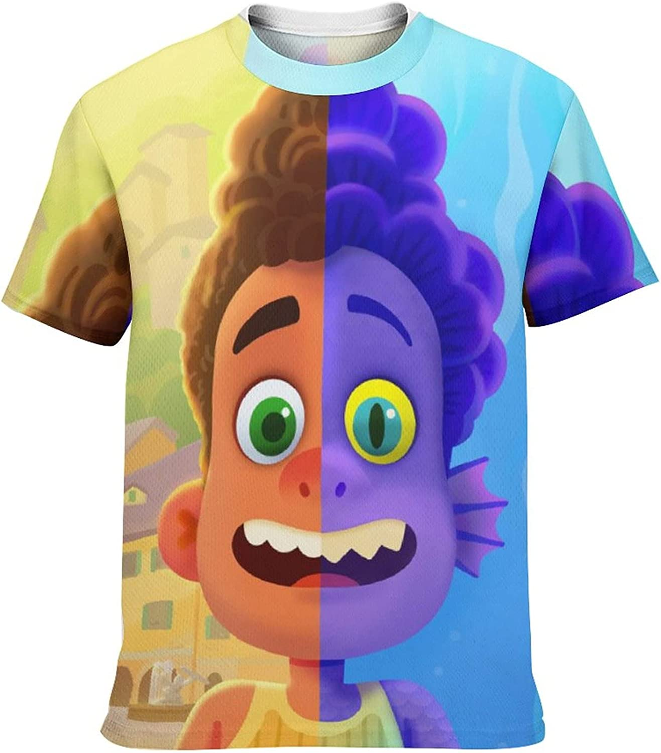 Kid's Casual Graphic Round Neck Short Sleeve T-Shirt Cozy Trendy Tee Shirts Tops for Boys XS