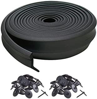 M-D Building Products, Black 3749 Garage Door Bottom Rubber, 16 Feet