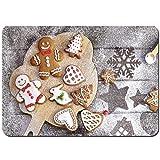 Antideslizante Alfombra De Baño,Galletas navideñas de Varias Formas glaseado de azúcar,Alfombra de Cocina Alfombra Mascota,Alfombras de Ducha 75x45cm