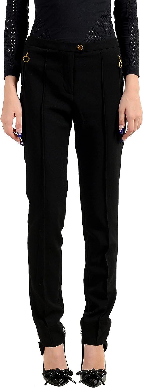 Moncler Women's Black Wool Casual Pants US M IT 42