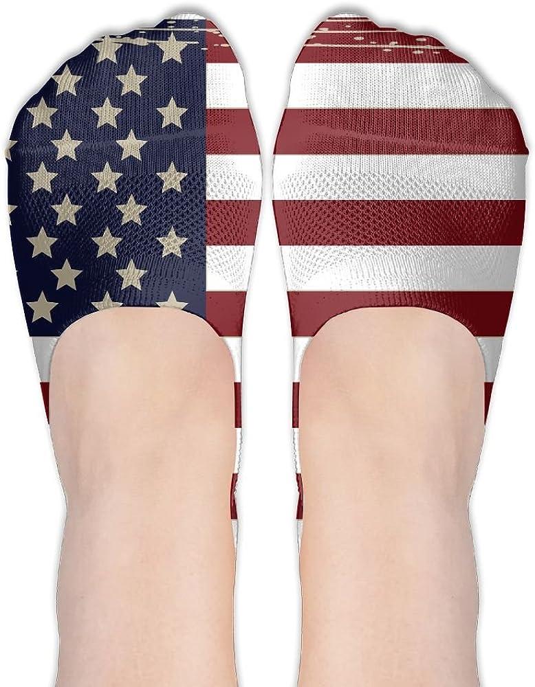 United States Flag Female Polyester Cotton Socks Boat Socks Low Cut Socks Thin Casual Socks