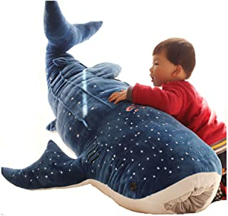 EryRon Large Blue Whale Shark Plush Toy for Kids,Cute Animal Stuffed Pillow, for Baby/Children (Large)