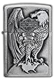 Zippo Harley Davidson Mechero, Brushed Chrome, 3.5x1x5.5 cm