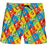 EDFLPUTB Hombres de Navidad 3D Impreso Color Shorts Medias y Cajas de Regalo Deportes Bermuda Gran tamaño Christmas Stockings 4XL
