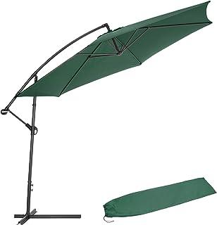 TecTake 3,5m Sombrilla Parasol de para terraza jardín protección Solar UV (Verde | No. 400623)
