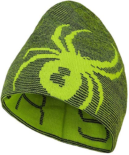 Spyder Kinder Reversible Bug Mütze, Sharp Lime, ONE Size