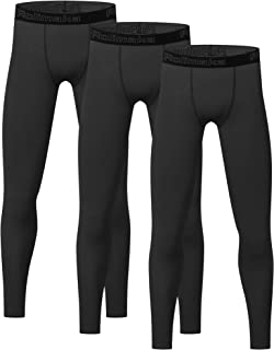 3 Pack Youth Boys' Compression Leggings Tights Athletic...