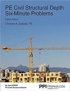 PE Civil Structural Depth Six-Minute Problems